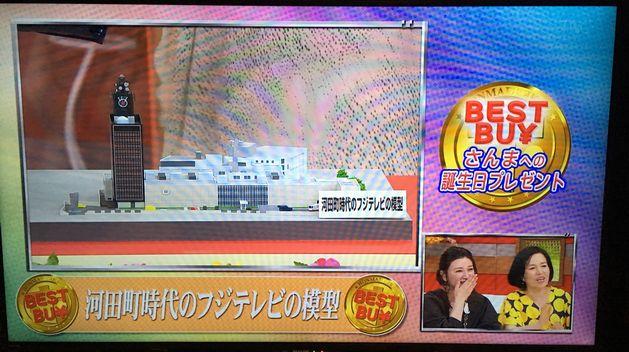 河田町時代のフジテレビの模型