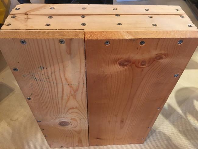 【自作】木製オリンピックプレートホルダー背面