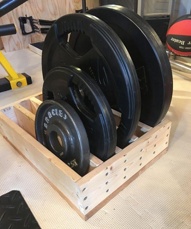 【自作】木製オリンピックプレートホルダー