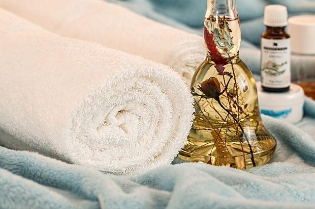お風呂の清潔なタオル