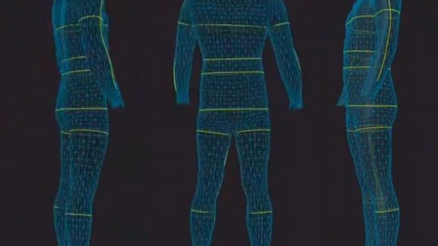 zozoスーツ計測結果 側面背面